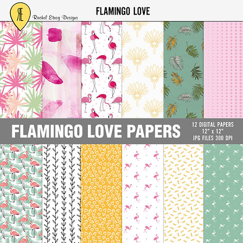 Flamingo Love - Papers