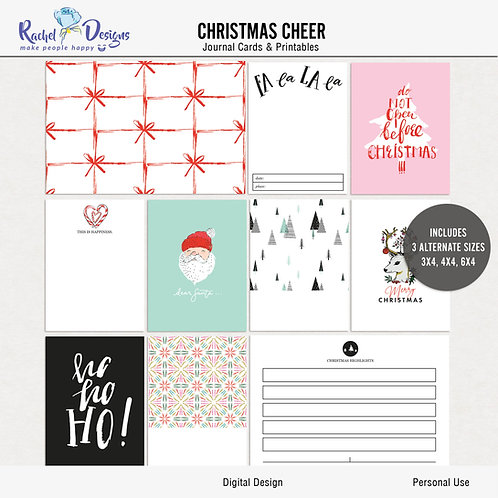 Christmas Cheer- Journal cards