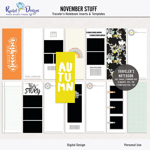 November Stuff - Traveler's Notebook