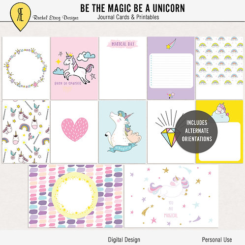 be the magic be a unicorn - Journal cards