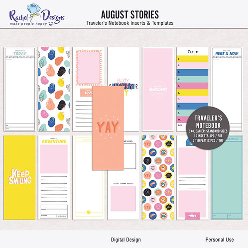 August Stories - Traveler's Notebook