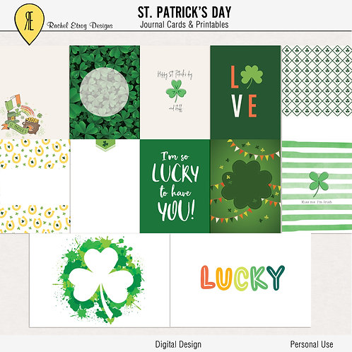 St. Patrick's Day - Journal cards