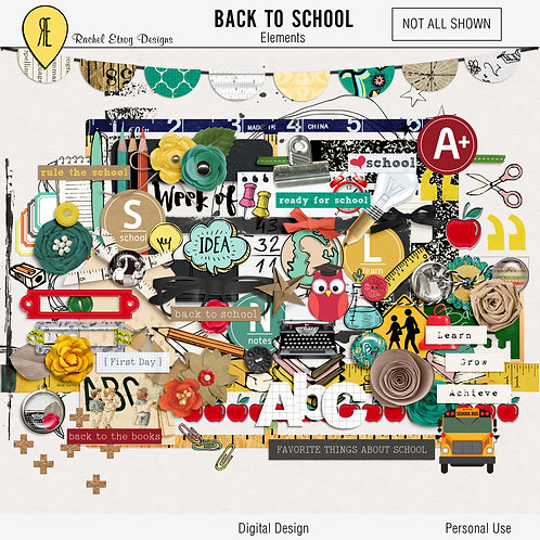 Back To School - Digital Scrapbooking Elements
