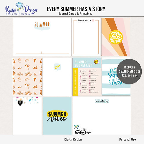Every Summer Has A Story - Journal cards