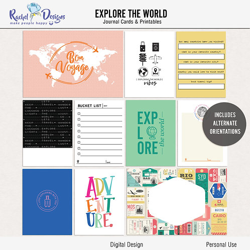 Explore The World- Journal cards