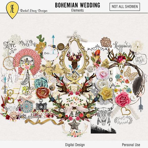 Bohemian Wedding - Digital Scrapbooking Elements