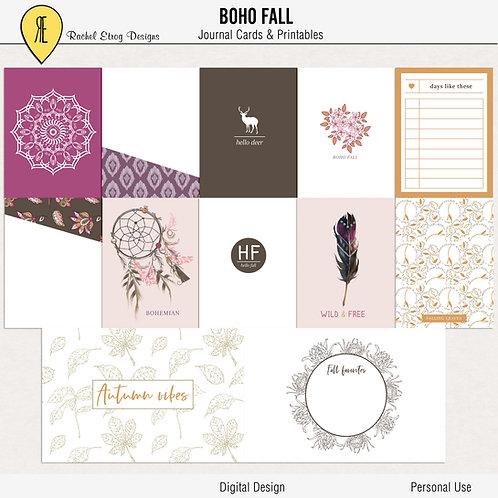 Boho Fall - Journal cards