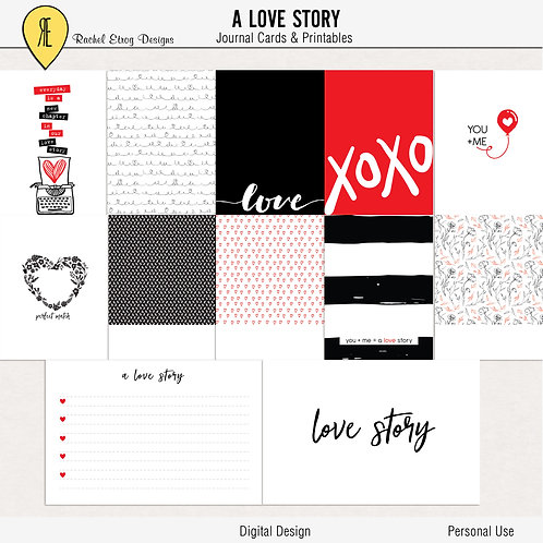 A Love Story - Journal cards