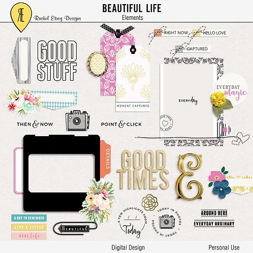 Beautiful Life - Digital Scrapbooking Elements