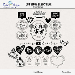 Our Story Begins Here - Digital Stamps