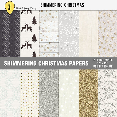 Shimmering Christmas - Papers