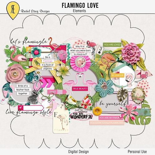 Flamingo Love - Elements