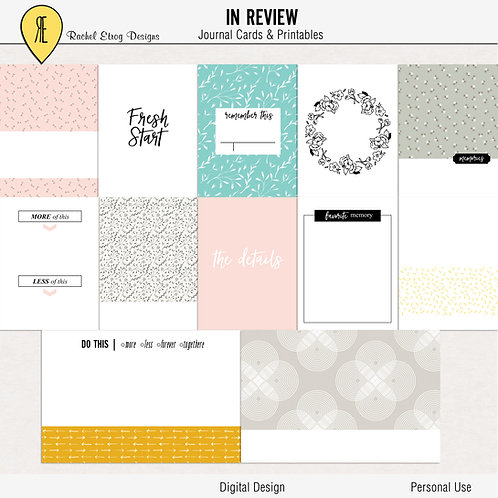 In Review - Journal cards
