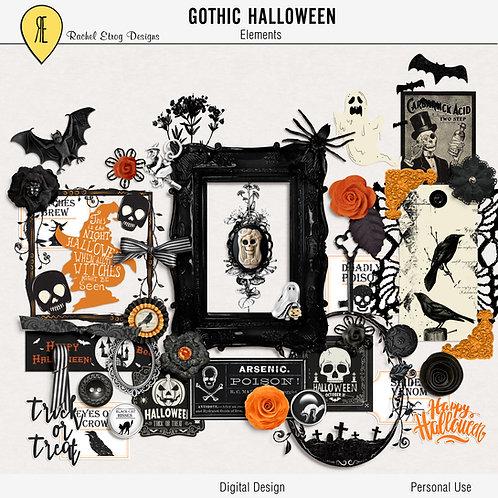 Gothic Halloween - Digital Scrapbooking Elements
