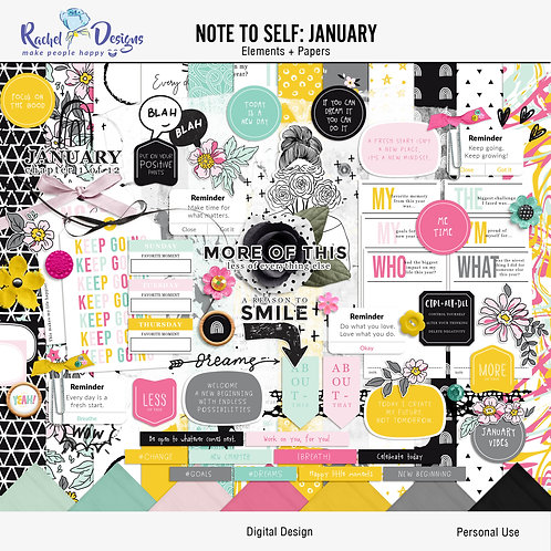 Note To Self January - Kit