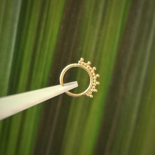 Beaded cluster ring