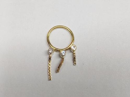 Sapphire dangle ring