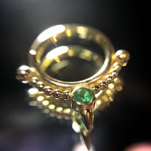 Beaded spike ring