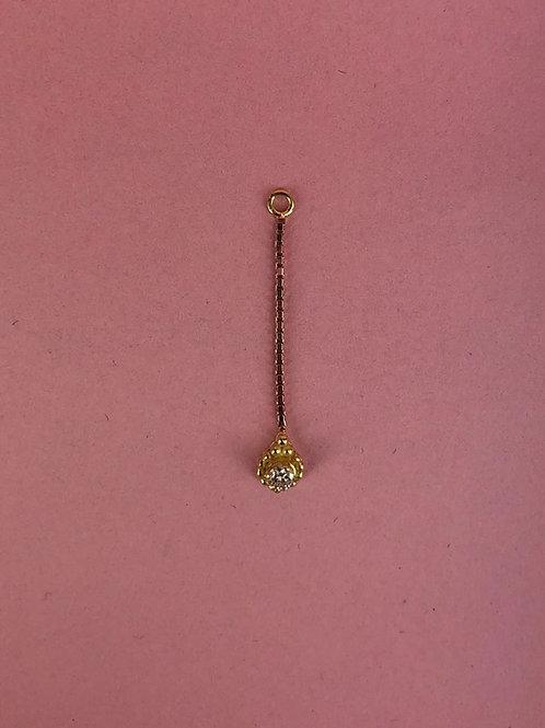Chain with teardrop
