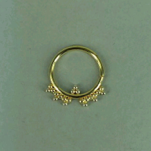 Multiple three beaded ring