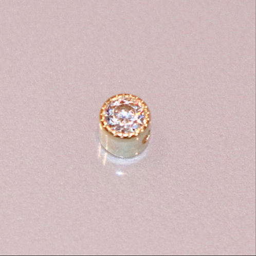 Scalloped clip in gemstone