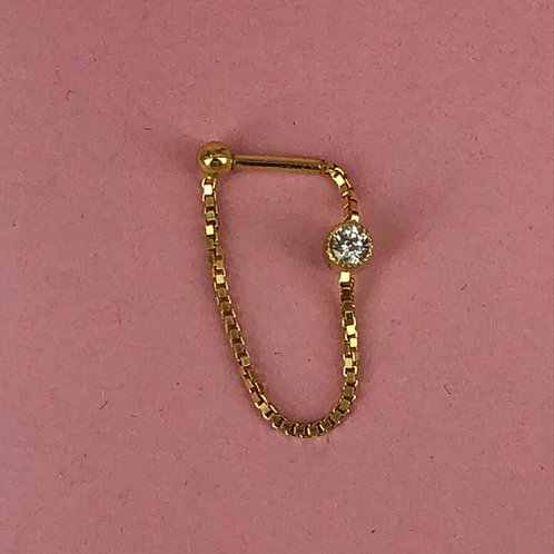 Chain hanger with double sapphire