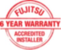 Fujitsu 6 year Warranty