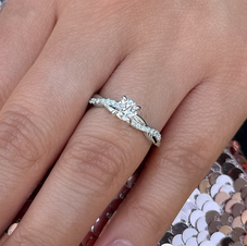 Infinity style Engagement Ring
