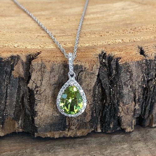 Peridot and Diamond Pendant
