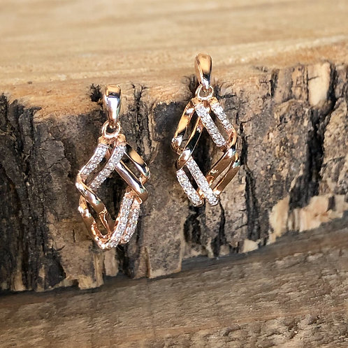 Rose Gold Diamond Earrings