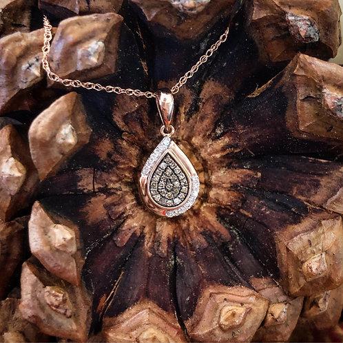 Cappuccino Diamond Pendant