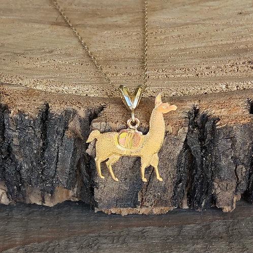 Gold Llama Pendant