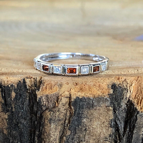 Garnet Stackable Band