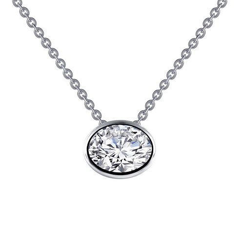 Oval bezel-set Pendant