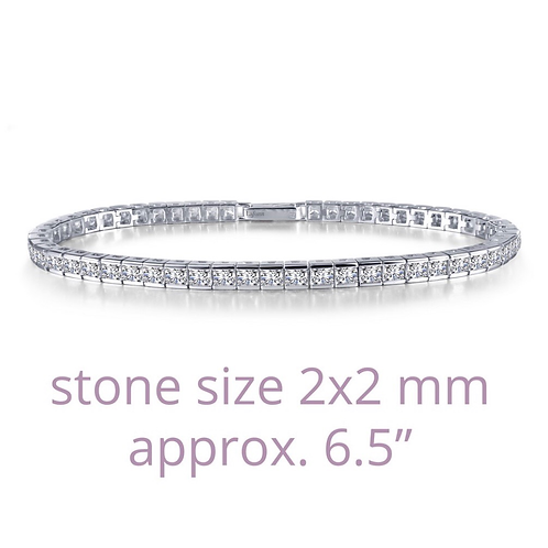 Princess-cut Tennis Bracelet