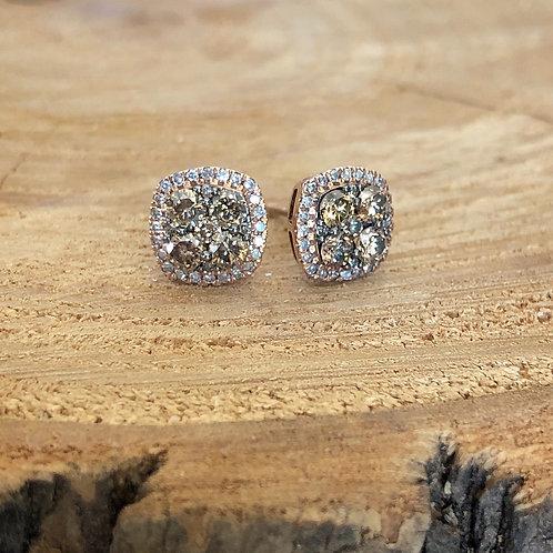 Cappuccino Diamond Earrings