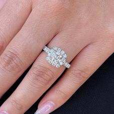 Cushion Shaped Halo Engagement Ring