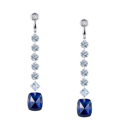 Created Sapphire Fashion Earrings