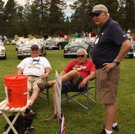 Aides de Kamp ( L-R, Gale Nelson, George Korber, Paul Adams, Gary Meryer) at the Car Show during the Bend, OR Rendezvous.