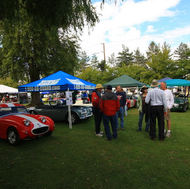 ABFM 2009. AHCO members visiting our Healey display in Town Square at PIR.