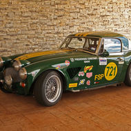 Richard Hockert's extensively modified race Healey. On display at Colorado Springs Healey meet venue.