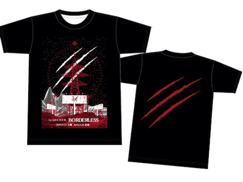 【キズ】 1st ASIA TOUR 『BORDERLESS』海外公演限定 Tシャツ