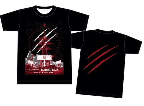 【キズ】 1st ASIA TOUR 『BORDERLESS』海外公演限定 Tシャツ