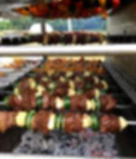 Lamb kebab street food catering