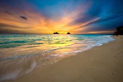 Sunrise at Lanikai Beach in Kailua, Oahu