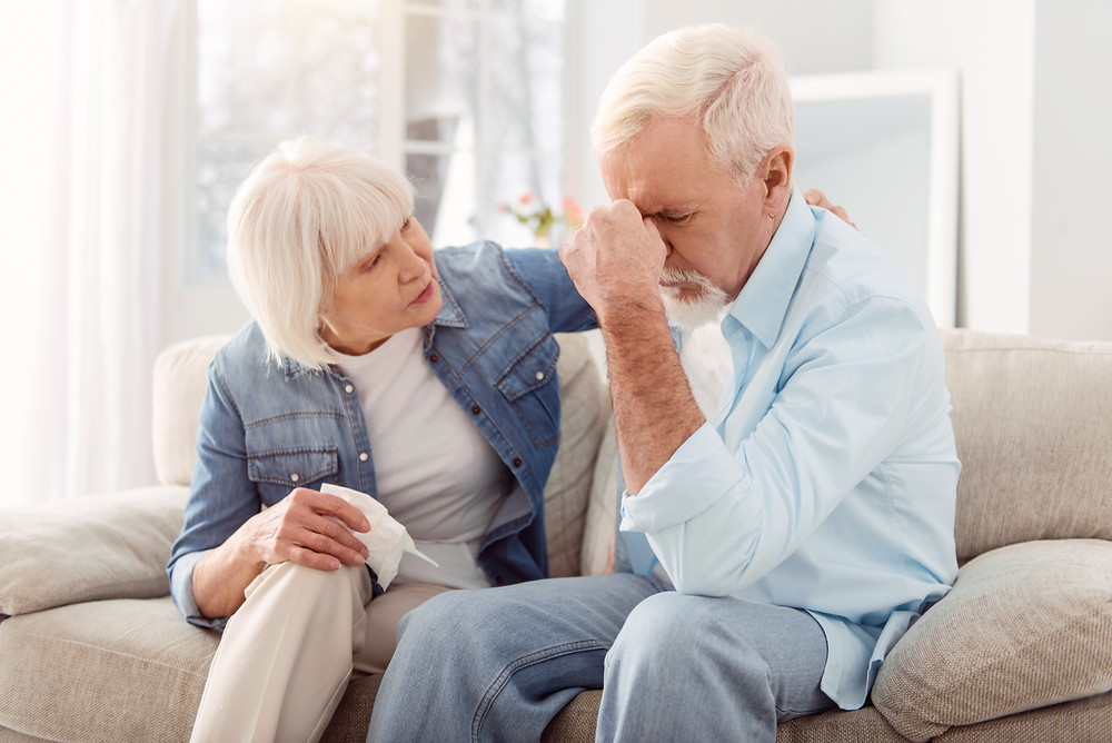 Spouse is concerned about her husband who is showing signs and symptoms of a stroke.