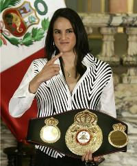 campeona mundial de boxeo
