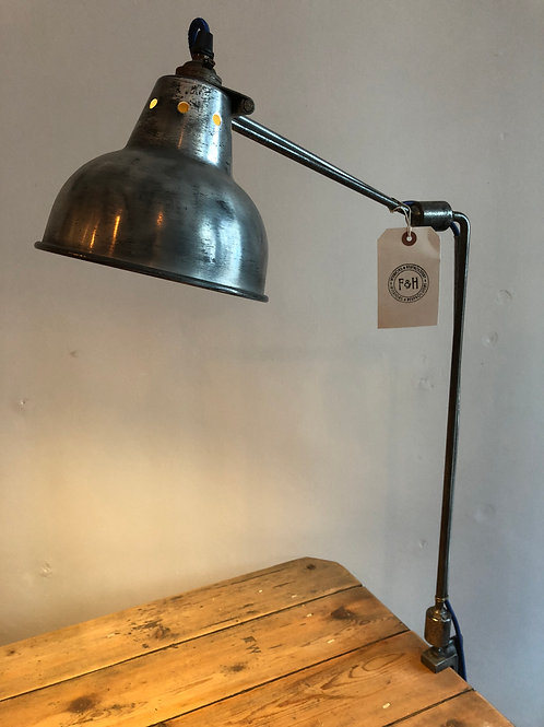 Industrial table/desk clamp lamp