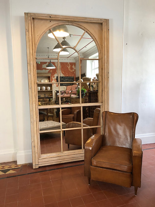 Large Victorian window mirror