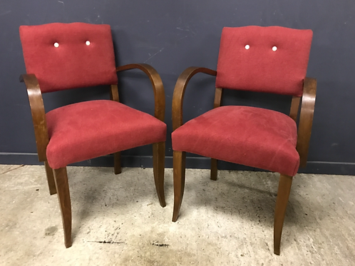 Pair of Art Deco bridge chairs
